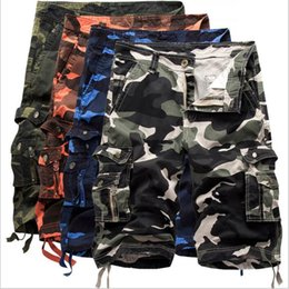 59f173bfd83 Men Camouflage Shorts Cargo Leisure Half Pants Army Capri Pocket Overalls Loose  Casual Jeans Men s Hot Trousers Fashion Beach Pants B2479 men cargo capri  ...