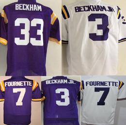 Wholesale Rugby Shirts Cheap - cheap college 7 Leonard Fournette 33 3 Odell Beckham JR shirt men sports jerseys