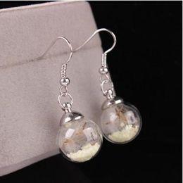 Wholesale Wholesale Glass Seed Bead - Fashion earrings glow in the dark women glass beads dandelion seeds danggle and chandelier ear jewelry earrings earpins earstuds
