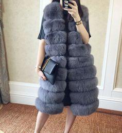 Wholesale Fake Hooks - Faux Fur Coat Women Winter gilet female Super Long Fake Fur Vests With Furry Vest Female Abrigos Mujer Waistcoat