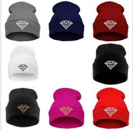 Корейский стиль Алмаз шапочка зима теплая шапки хип-хоп шляпа вязаная пряжа женщины любители cap катание на лыжах шапочка шапки открытый спорт hat от