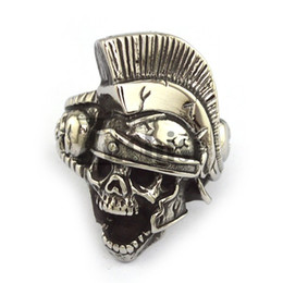 Wholesale Cheap Great Gifts - New Arrival Hight Quality Stainless Steel Ring Cheap Indian Skull Ring Fashion Punk Rock Men's Ring