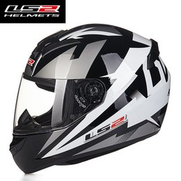 Wholesale Ece Motorcycle Full Face Helmet - wholesale New Arrival LS2 FF352 Fashion Design Full Face Motorcycle Helmet Racing Scooter Helmets ECE DOT Approved Capacete Casco Moto
