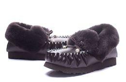 Wholesale Snow Boots Pearl - Genuine Peas shoes snow boots Women Peas Shoes with Good Warm-keeping Fur Wool Plus velvet Short tube PregnantPrincess pearl princess shoes