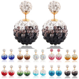 Wholesale Earings Designs - 2016 Promotion Earings Jewelry Beautiful Design Small And Big Colorful Crystal Earrings