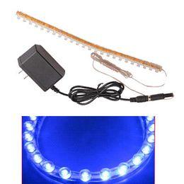 Tira de luces led para acuario online-Aquarium Fish Tank 24 LED Blue Strip Barra flexible Barra de luz Lámpara de tira con luz de encendido como lámpara de iluminación
