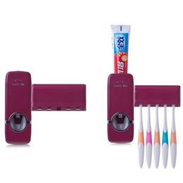 Vente en gros-Distributeur automatique de dentifrice Distributeur de brosse à dents Set Wall Mount Stand brosse à dents Accueil ensembles Salle de bain Produits ? partir de fabricateur