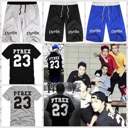 Wholesale Gym Clothes Womens L - 2016 Unisex PYREX 23 Gym Shorts Shirts Baseball Pants Hip-Hop Shorts Beach Shorts Kanye West Jay-z R&b Chris Style Mens Womens Clothing