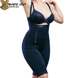 Wholesale Open Butt - Wholesale-Women Full Body Shapewear Seamless Firm Control Shapewear Butt lifter Open Bust Bodysuit Body Shaper Black Enhancing Bodysuit-30