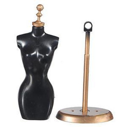 Wholesale Dress Model Mannequins - 2014 New CR Brand Display Holder For Toy Doll Dress Clothes Gown Mini Stand Mannequin Model RC