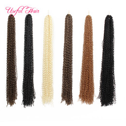 Wholesale Extension Hair Curly Micro - Synthetic ZIZi crochet braids hair kinky curly braiding hair micro braid crochet hair extensions marley for black women