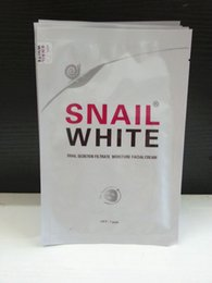 Wholesale Snail White - Snail White Face mask Snail Secretion Filtrate Moisturek Carrian Filtrate Secretion Skin Care Acne Facial Moisture Mask