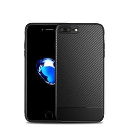 Wholesale Fiber Grains - Carbon Fiber Phone Cases For iPhone X Case Soft TPU Slim Grain Pattern Back Cover For iPhone 7 7 Plus Shockproof Fundas