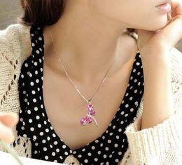 Libellen modeschmuck halsketten online-Libelle kristall pendent halskette kristall libelle charme halskette mode libelle strass halskette schmuck weihnachtsgeschenk