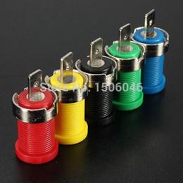 Wholesale Banana Plug Hifi - Excellent Quality 5pcs Color Set 4mm Binding Post Banana Jack Plug Socket Panel Mount Test Probe
