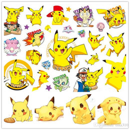 Wholesale Nursery Toys - New Fashion Children Cartoon Pikachu 3D Stickers Temporary Tattoo Nursery Children Kids ody Arm Tattoo Paste Paper for Kids Toys B0423