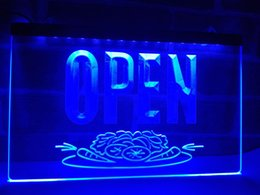 Wholesale Restaurants Salads - LK743b- OPEN Salad Bar Food Cafe Shop LED Neon Light Signale