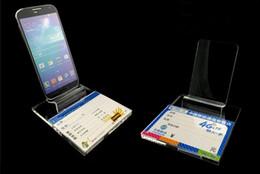 stand debout ipad Promotion 50PCS nouveau style support de support de présentoir de téléphone portable mobile acrylique grand écran