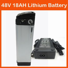 Wholesale 48v Bicycle - Top Discharge 750W 48V Lithium battery 48V 18AH Electric Bicycle Battery with BMS, 54.6V 2A charger Use for samsung 30B Cell FREE SHIPPING