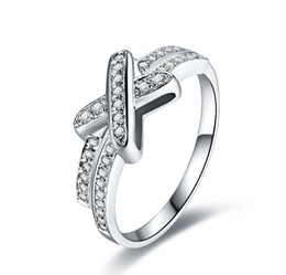 rosetón de diamantes Rebajas Rosetón distintivo de calidad superior diseñador encantador anillo de diamante sintético joyería de plata esterlina plateado anillo de compromiso