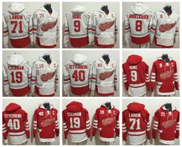 Wholesale Jacket Black Wings - Detroit Red Wings Hoodie 71 Dylan Larkin 19 Steve Yzerman 9 Gordie Howe Henrik Zetterberg Hockey Jersey Sweatshirts Winter Jacket Stitched