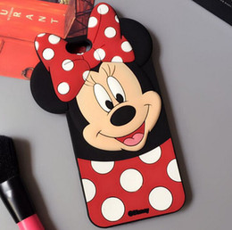 Wholesale Cute Girls Mobile Cases - New Cute Girl Pink Minne Mikey Mouse Silicone Soft Case For Apple iPhone 6 6s 4.7 6plus 6splus 5.5inch &Samsung Mobile