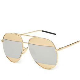 Wholesale New Brand Fashion Lady S - 2016 New Women Mens Sunglasses Fashion Female Brand Designer Mirror Patchwork Lenses Sun Glasses Ladies Sunglasses UV400 Outdoor Oculos de s