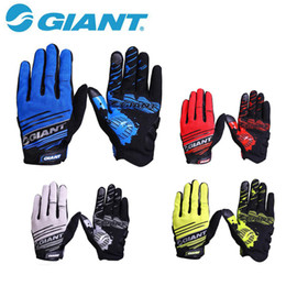 Wholesale Road Bike Xl - Giant Brand New Cycling Gloves Full Finger Nylon Road Bike Gloves Mtb Sport Bicycle Gloves Guantes Ciclismo 4 Color