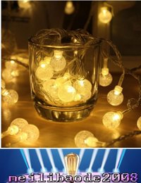 Wholesale Crystal Bubble Pendant - EU Plug 10M 100 LED Pendant String Light Crystal Bubble Balls for Garden Bedroom Wedding party Garland Outdoor Decoration MYY