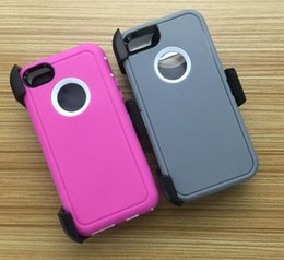 Wholesale Belt Clip S5 - Hybrid TPU + PC Robot Shockproof Case With Clip Belt and Retail Box for iPhone 7 Plus 6S 5S For Samsung S5 S6 S7 edge Note 7