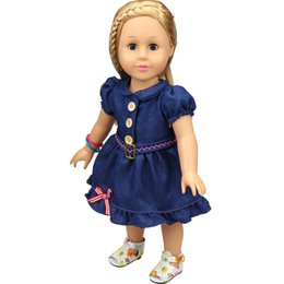 Wholesale Chinese Style Fashion Dress - Christmas Gifts For Children Girls Doll Accessories Handmade Princess Dress For 18'' American Girl Dolls Clothes variety of options YF285