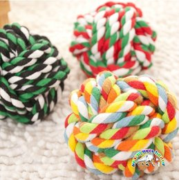 Wholesale Cotton Rope For Sale - Hot sale dog rope toys cotton dog toy ball indestructible dog toys tough rope toys for dogs puppy toys