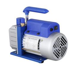 Wholesale Rotary Vane Air Pumps - free shipping 110V 220V 3CFM 5PA 1L Single Stage mini portable air Rotary vane vacuum pump