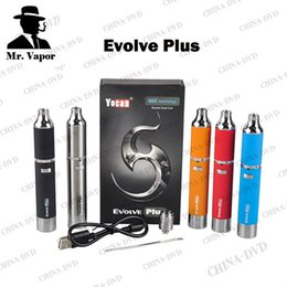 Wholesale Dry Herb Wax Electronic Cigarette - Original Yocan Evolve Plus Ecigarette Kit Upgraded Evolve Wax Vaporizer Pen Electronic Cigarettes Fit Quartz Dual Coil Vs Titan 2 Dry Herb