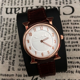 Wholesale Colorful Men Watches - Top Brand Women Man Watch Leather Fashion Classic Herm High Quality Colorful lover watches Free shipping Male QuartzRelojes De Marca Mujer