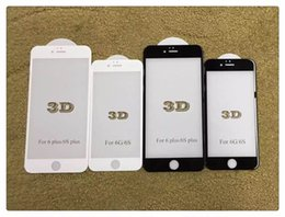 """Wholesale Seamless Screen - 3D Surface 9H Seamless Arc Complete Cover Tempered Glass for iPhone 6 6s 4.7"""" Screen Protective Film"""