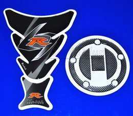Wholesale Sticker Gas Tank Motorcycle - Motorcycle Decal Fual Gas Cap Cover Tank Pad Protector Sticker For All Suzuki GSXR 600 750 2004-2010 QJC2532