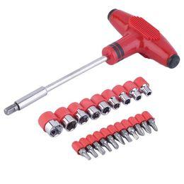 Wholesale Hardware Tool Kit - 21 in 1 Hardware Tool T-Handle Torx Screwdriver Kit Home Automotive Repair Brand New