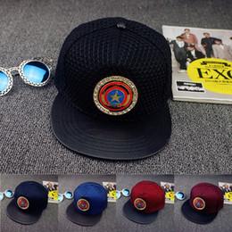 Wholesale Captain Baseball Cap - 2016 New Arrive Avenger Hero Captain America Caps Snapback Hip-hop Caps Hat Sports Cool Baseball Cap Hats Bone For Men Women