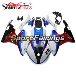 Wholesale Motorcycle Race Fairing Kits - Racing Version White Red Injection ABS Plastic Fairings For BMW S1000RR 2015 2016 15 16 Motorcycle Fairing Kit Covers Panels