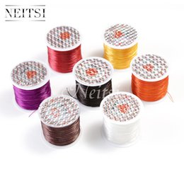 Wholesale Stringing Tools - Neitsi 50 Meters 10pcs lot 4Colors Crystal Elastic Thread Stretchy Cord String Sewing Thread Polyester Tools Thread Hair Accessories