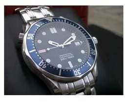 Wholesale Sapphire Blue Ivory - factory seller High quality low price - luxury Mens Professional 300m James Bond 007 Blue Dial Sapphire Automatic Watch Men's Watches