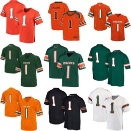 Wholesale Red Any - New NCAA Miami Hurricanes Mens Womens Kids Best quality Jersey 100% stitched Custom Any Name Any No. Football College Jerseys