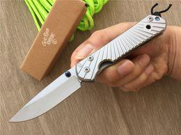Wholesale D2 Sebenza - Promotion Chris Reeve Folding D2 Blade D2 Blade Sebenza 21 Style Stone Wash Edge Handle Knife Hunting Knives Knife 4L