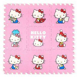 "Wholesale Kids Interlocking Floor Mats Wholesale - Wholesale-Meitokuu Baby EVA foam play Puzzle Mat for kids 9pcs Cartoon Interlocking floor pad Each:30cmX30cm=12""X12"" 3 8Thick"