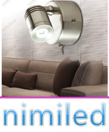 Wholesale Headboard Lights - nimi1025 Bed Headboard Lights 3W CREE LED Chrome   Nickel Brushed Finish Wall Lamp With Switch Hotel Residential Motorhome Boat Lighting