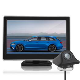 Wholesale Color Rear View Camera - 5 Inch TFT LCD Scree Digital Color Car Rear View Monitor + 170 Degree Waterproof Night Vision reverse Backup Parking Camera CMO_51Z
