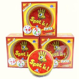 Wholesale Wholesale Metal Paper - Spot It Card Game Board Game for Children Magic Fun with Family Gathering the Animals Paper Card Metal Box OOA3053