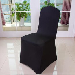 Wholesale Universal Chair Covers Free Shipping - Free Shipping Universal Polyester Spandex Wedding Chair Covers outdoor beach chair cover Banquet Folding Hotel Decoration decor