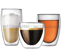 Wholesale Wave Wall Decoration - NEW Handmade Heat Resistant Double Wall Glass Tea Drink Cup Insulated Clear Glass Beer Tea Mugs Drinkware Gift 80 250 350 450 650ML MYY